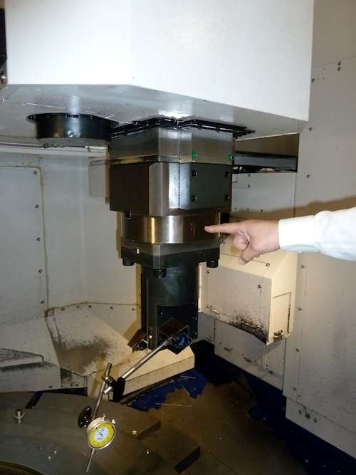 """""""solid-block"""" tool clamping system."""