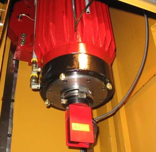 Laser scanner installed in machine spindle