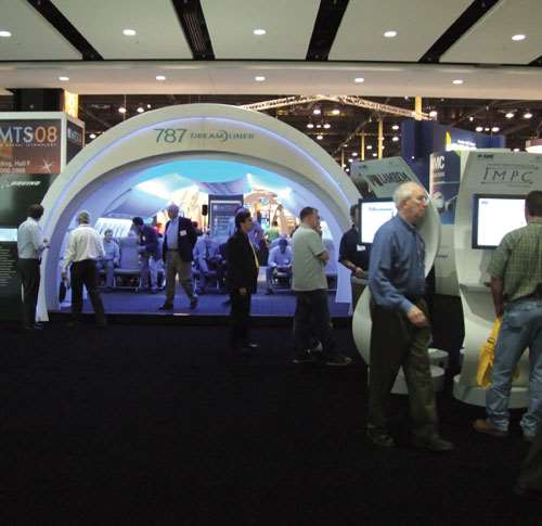 IMTS 2008 Gardner Publications Booth, Boeing, AMRC