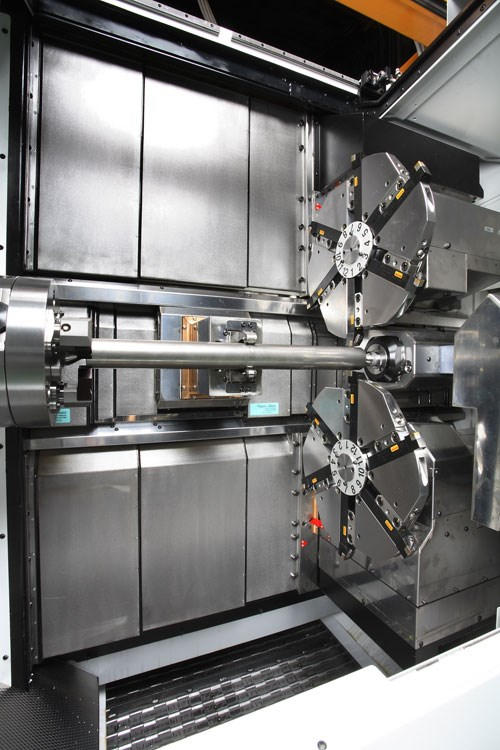 four axis twin turret cnc lathe