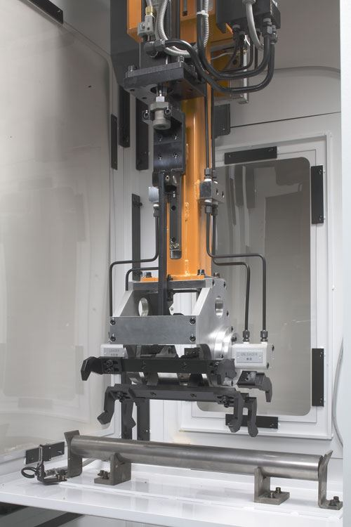 four axis twin turret cnc lathe loader