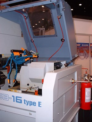 Fire suppression system for machine tools