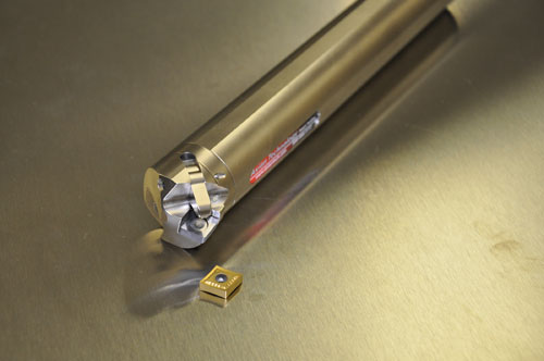 Click-Change lathe toolholder allows quick insert changes