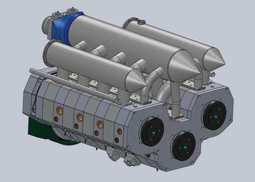 SolidWorks engine design