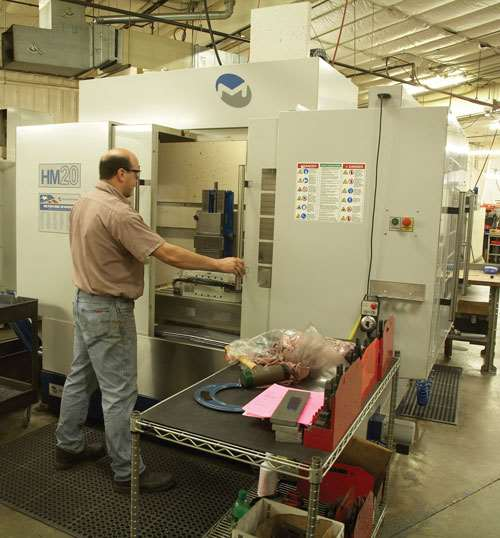 ZMC's Milltronics HM20 horizontal machining center