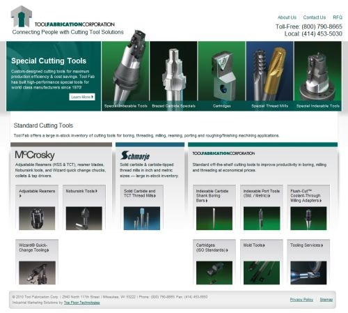 Updated Web Site Features RFQ Page