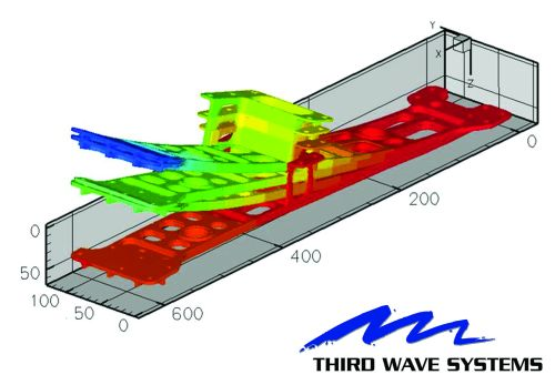 Third Wave System's Production Module CAE software for toolpath analysis and optimization