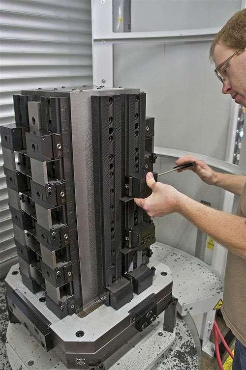 TRD Manufacturing machine operator sets up a machine
