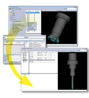 CGTech interface to Zoller TMS database