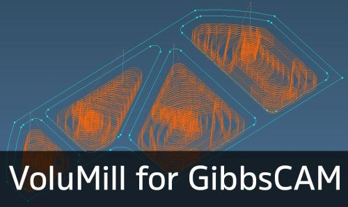 GibbsCAM Production Milling software with VoluMill Wireframe