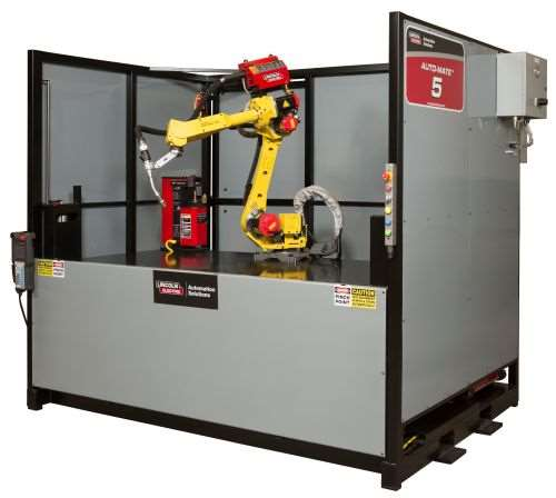 Lincoln Electric Auto-Mate robotic welding cell