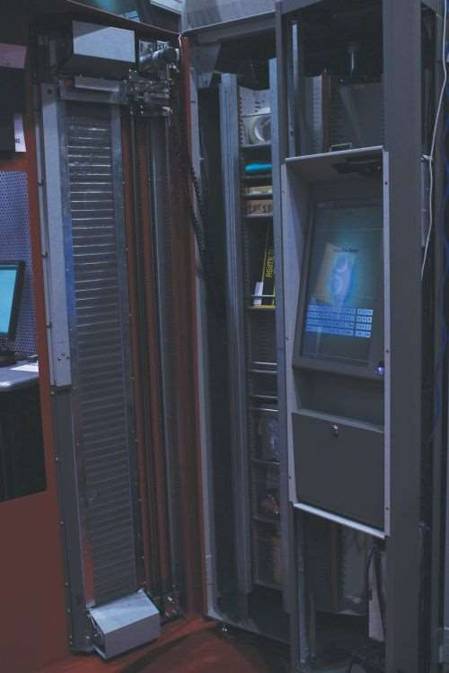 interior shot of AutoCrib's TX750 vending system