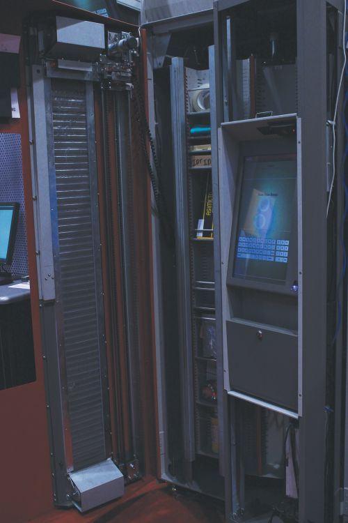 interior shot of AutoCrib's TX750 vending system