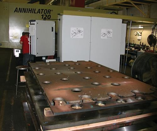 stack of clamping plates