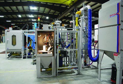 Guyson seven-axis direct-pressure blast machine