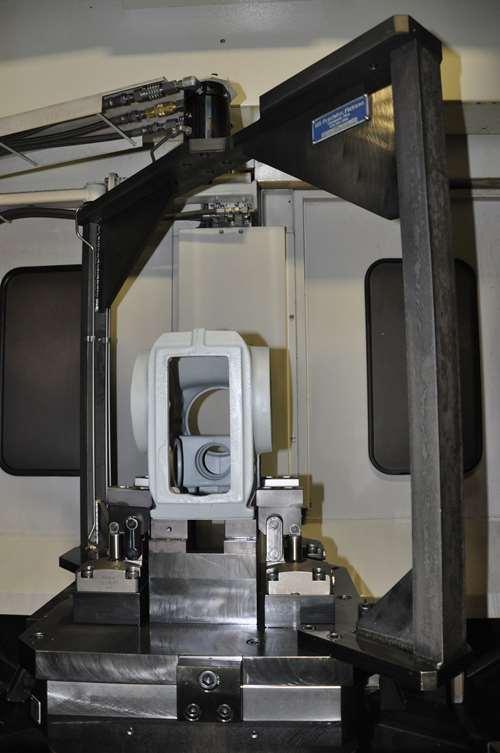 quick-change coupling on machining fixture