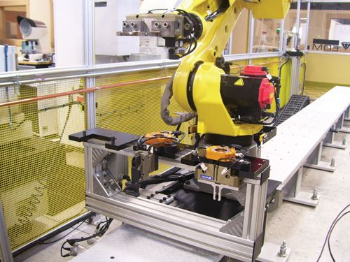 three robot grippers