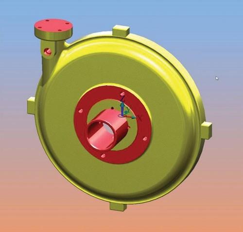 round cast pump body workpiece