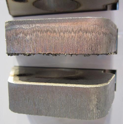 BrightLine fiber technology cut edge with minimal burr