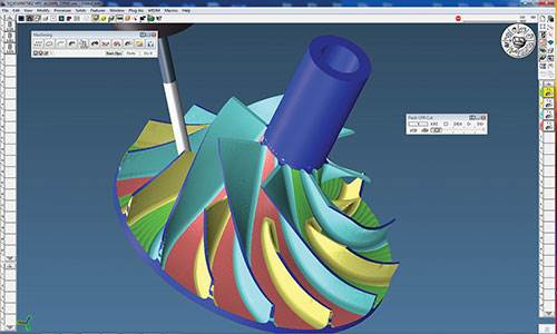 GibbsCAM MultiBlade for five-axis machining
