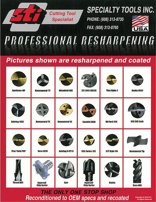 Specialty Tools resharpening services