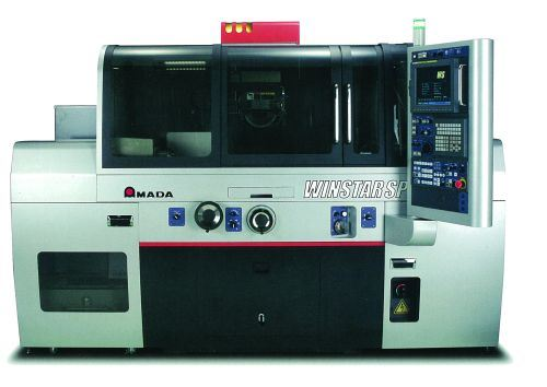 Amada's Winstar SP (V-spec) form grinder features a CCD camera and software that can measure shapes directly on the machine. The software automatically calculates compensation values based on a target profile and the measured workpiece, the company says.