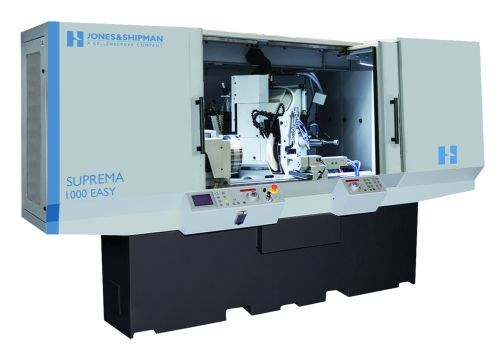 The Suprema 100M cylindrical grinding machine from Jones and Shipman (a subsidiary of Hardinge) offers a 160-mm center height and 100-kg weight capacity. Its larger-diameter wheels are said to reduce the number of dresses needed during grinding cycles.