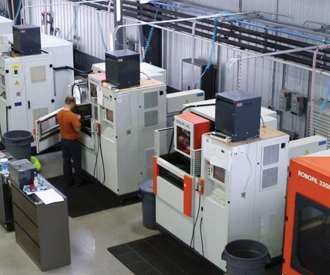 the shop's existing EDM machining line