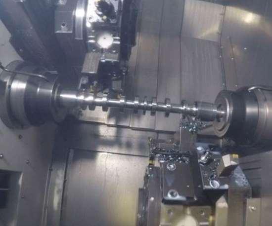 machine interior with camshaft