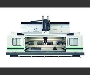 Large Machining Center Has Retractable Roof for Part Loading