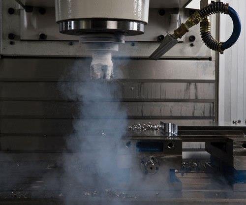 Liquid nitrogen exiting the tool