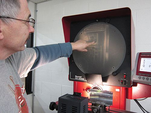 L.S. Starrett optical comparator