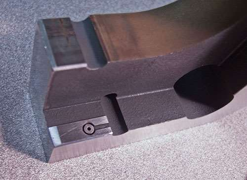 shoulder stop built into an air snap gage