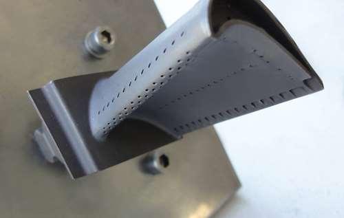 Holes in turbine blades