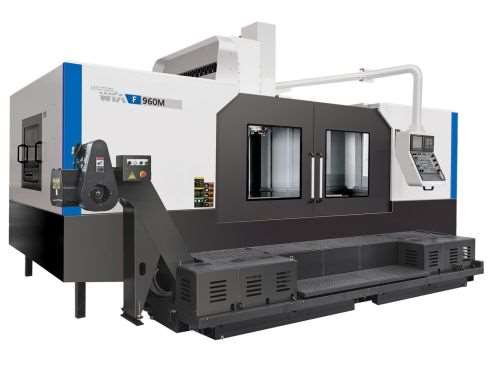 Hyundai-WIA's F750M and F960M large-capacity CNC vertical machining centers