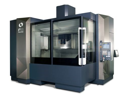 Makino's F-series of vertical machining centers includes the F8 and F9 models
