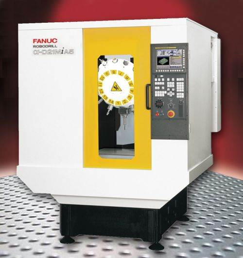 FANUC D21 RoboDrill series of vertical machining centers from Methods Machine Tools