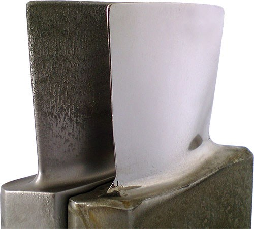 rough and finish machined blades