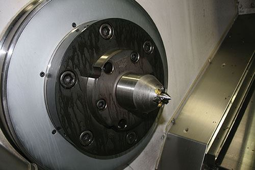 the  modified Riten face driver held the Tuthill pump shafts on center despite the lower-than-anticipated tailstock force.