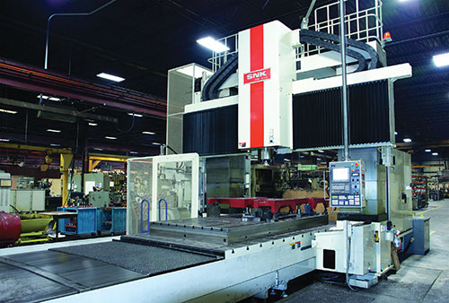 The RB-4VM five-sided vertical machining center