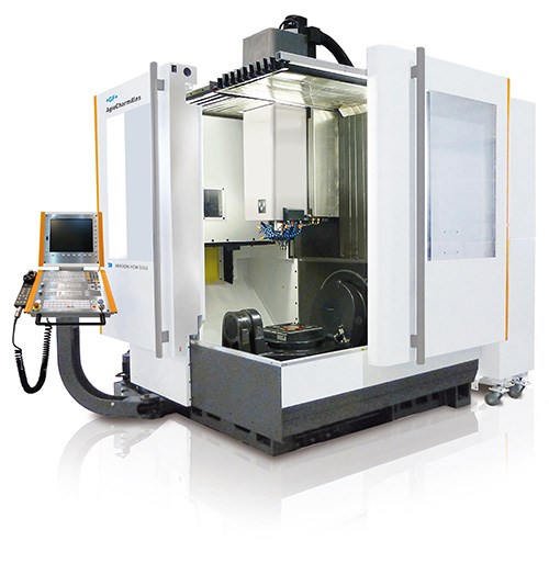 GF Machining Solutions' Mikron HEM 500U milling machine offers efficient five-axis capabilities in a compact footprint. The machine is designed to fit in tight areas with an accessible structure that enables workpieces to be loaded and unloaded with a forklift, rather than a crane.
