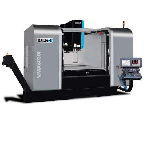 "Hurco's VMX6030i vertical machining center is based on its VMX64, but with a smaller footprint. Intended for moldmaking applications, the VMC features a 66.14"" × 30"" worktable controlled by the company's UltiMotion system."
