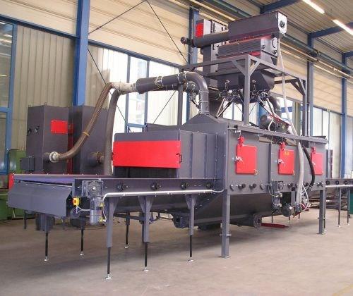 Rosler RRB roller conveyor shot blast system