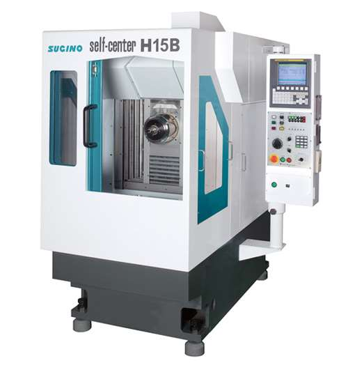 This compact Self-Center H15B horizontal machining center from Sugino is designed for high-precision operations on small and medium workpieces, such as engine and transmission components. The HMC's BT30 coolant-through spindle provides speeds ranging to 20,000 rpm.