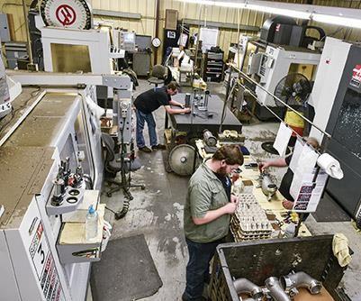 Vineburg CNC milling department