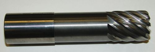 end mill with many flutes