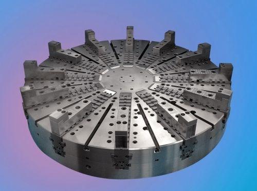 Royal Machine offers an 84-inch diameter chuck to its line of manual VTL chucks