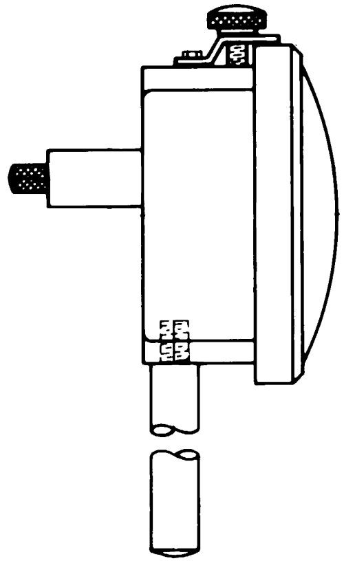 Typical configuration of a dial indicator