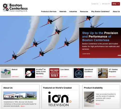 new website for Boston Centerless