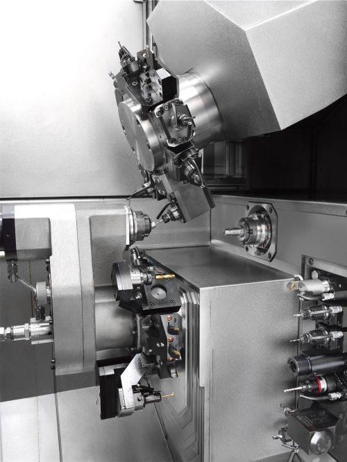 Index's Traub TNL18-7B sliding/fixed headstock automatic lathe